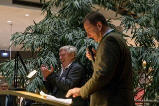 die Begrüßung erfolgte durch Clubvorstand Karl Fißlthaler und den Bürgermeister Andreas Haas